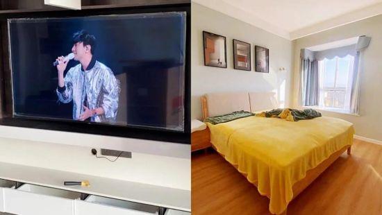 拼单的电视和房内装饰(图片由受访者提供)