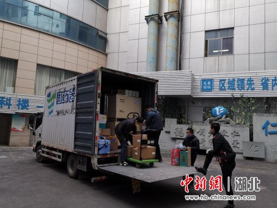 国药集团湖北省医疗器械有限公司向武汉市第六人民医院配送医疗物资
