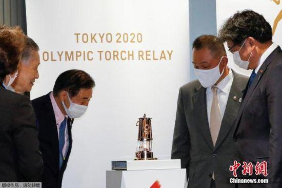 当地时间2020年8月31日,东京奥运会圣火在日本奥林匹克博物馆公开亮相。