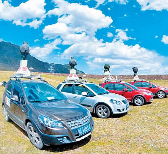 立得空间信息技术股份有限公司研发的移动测量车。