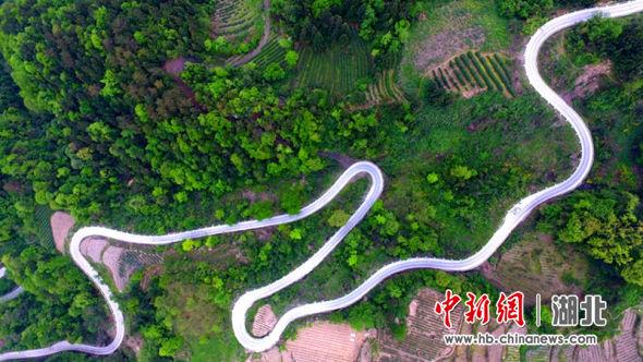 农村路网如玉带绕山乡