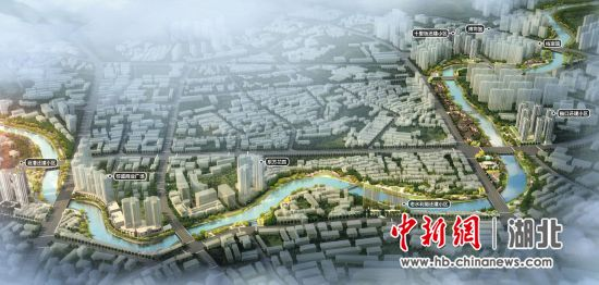 图为蕲春县正推进中的雷溪河综合环境整治二期工程如期完工后的景象(规划图) 蕲宣 摄
