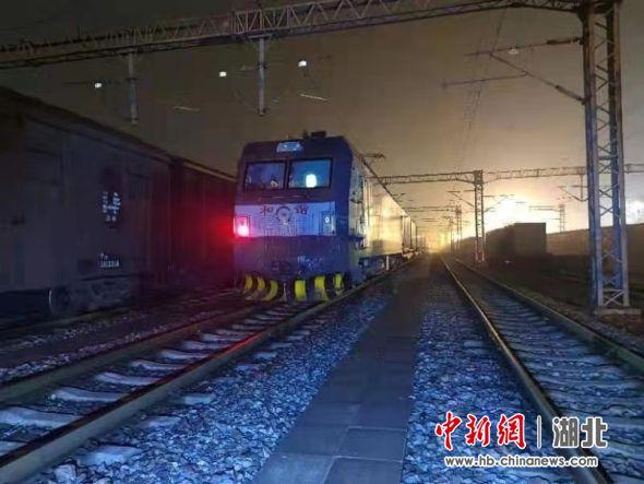 武汉重启一周年之际 中欧班列再出发驶往德国杜伊斯堡 姚黎 摄