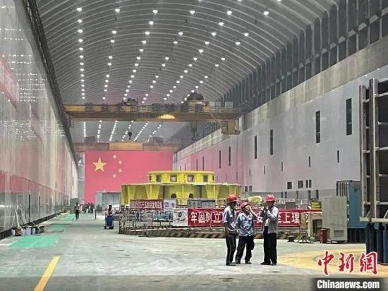 图为白鹤滩水电站右岸地下厂房。 缪超 摄