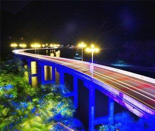 """湖北兴山""""三峡水上公路""""夜色迷人"""