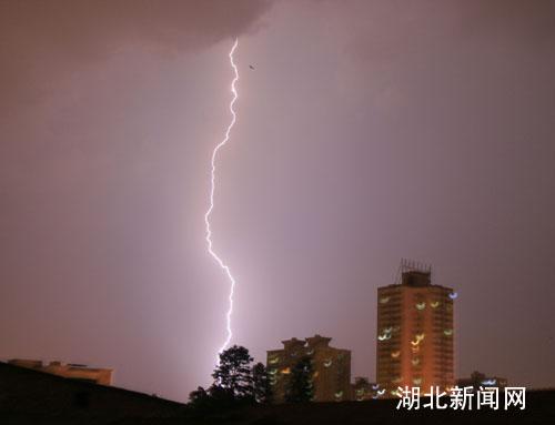 突然电闪雷鸣,风雨大作.张畅 摄-武汉遇强对流天气带来强阵雨 高图片