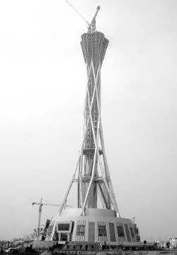 汉企造出世界最高电视塔