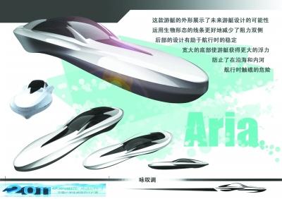 在第二届中国大学生游艇设计大赛中获得二等奖