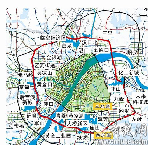 武汉城市空间结构图