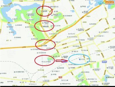 """地铁2号线百度地图走""""偏"""" 汉口站错位2.3公里(图)"""