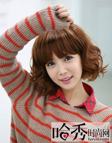 最新潮女生短发烫发发型 个性短发打造百变气质