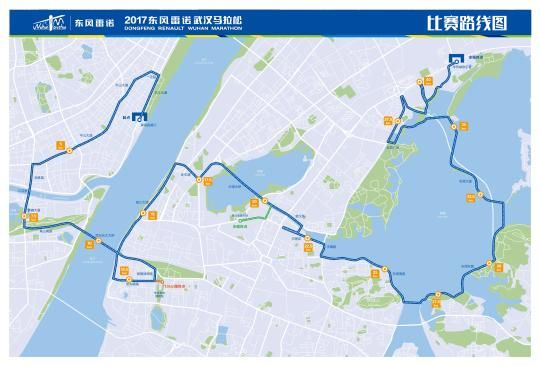 中新网湖北 2017年武汉马拉松线路发布 中山大道东湖绿道成亮点