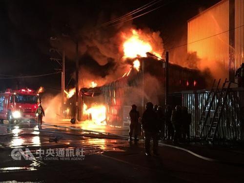 网上赌博注册送钱:台湾桃园一工厂发生大火_救出5人疑似6人仍受困