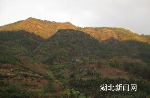 图:巴东县溪丘湾山上太阳山下雨